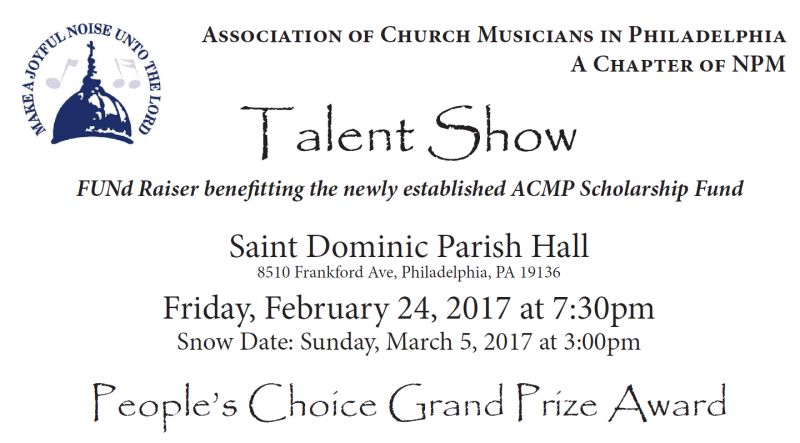 ACMP Talent Show Ad